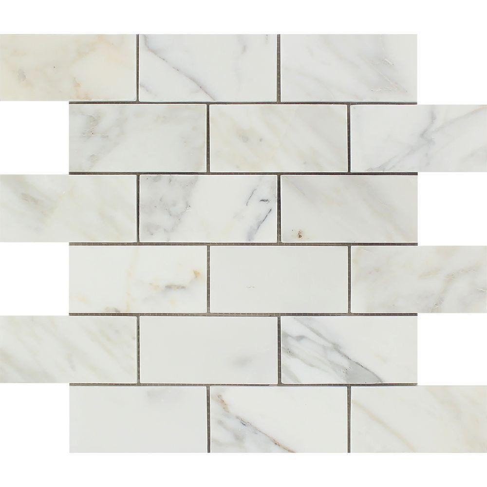 2 x 4 honed calacatta gold marble brick mosaic tile calacatta 2 x 4 honed calacatta gold marble brick mosaic tile dailygadgetfo Images