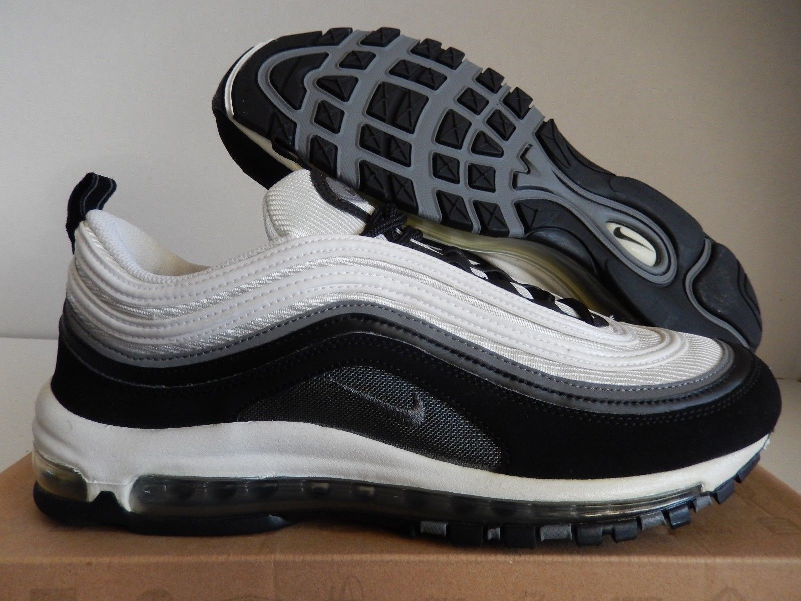 best cheap 7f4aa d0ee9 NIKE AIR MAX 97 BLACK-COOL GREY-WHITE SZ 11 RARE!!!  312641-005
