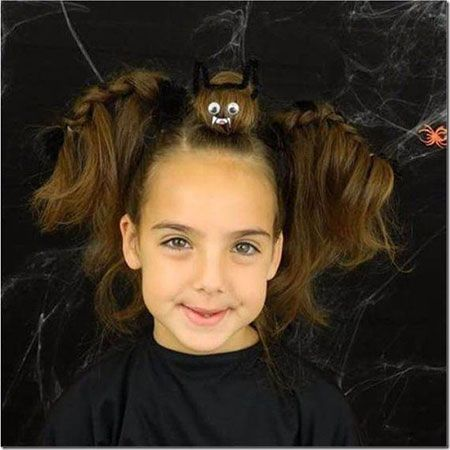 50 crazy  funky halloween hairstyle ideas for little