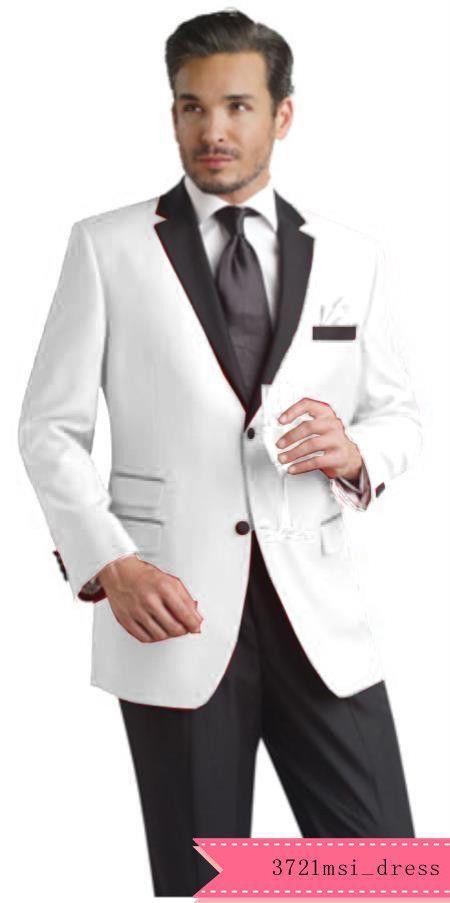2018Est Groom Tuxedos Best Man Suit White Groomsman Men\'s Wedding ...