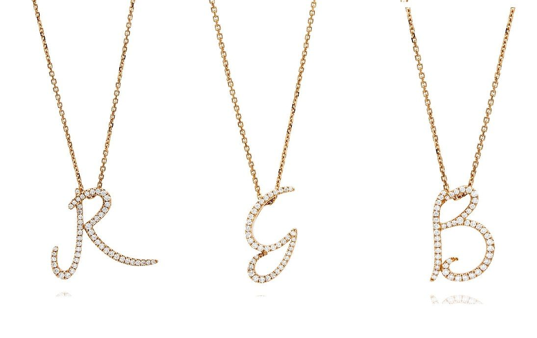 Personalized Diamond Initial Necklace Gold A-Z Alphabet Necklace Large Initial Necklaces 14K Gold,Gold Initial Necklaces for Women Letter Pendant Necklaces Gold Plated Letter Necklaces for Women