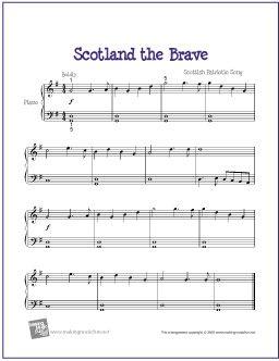 Scotland The Brave Piano Sheet Music Sheet Music Free Sheet Music