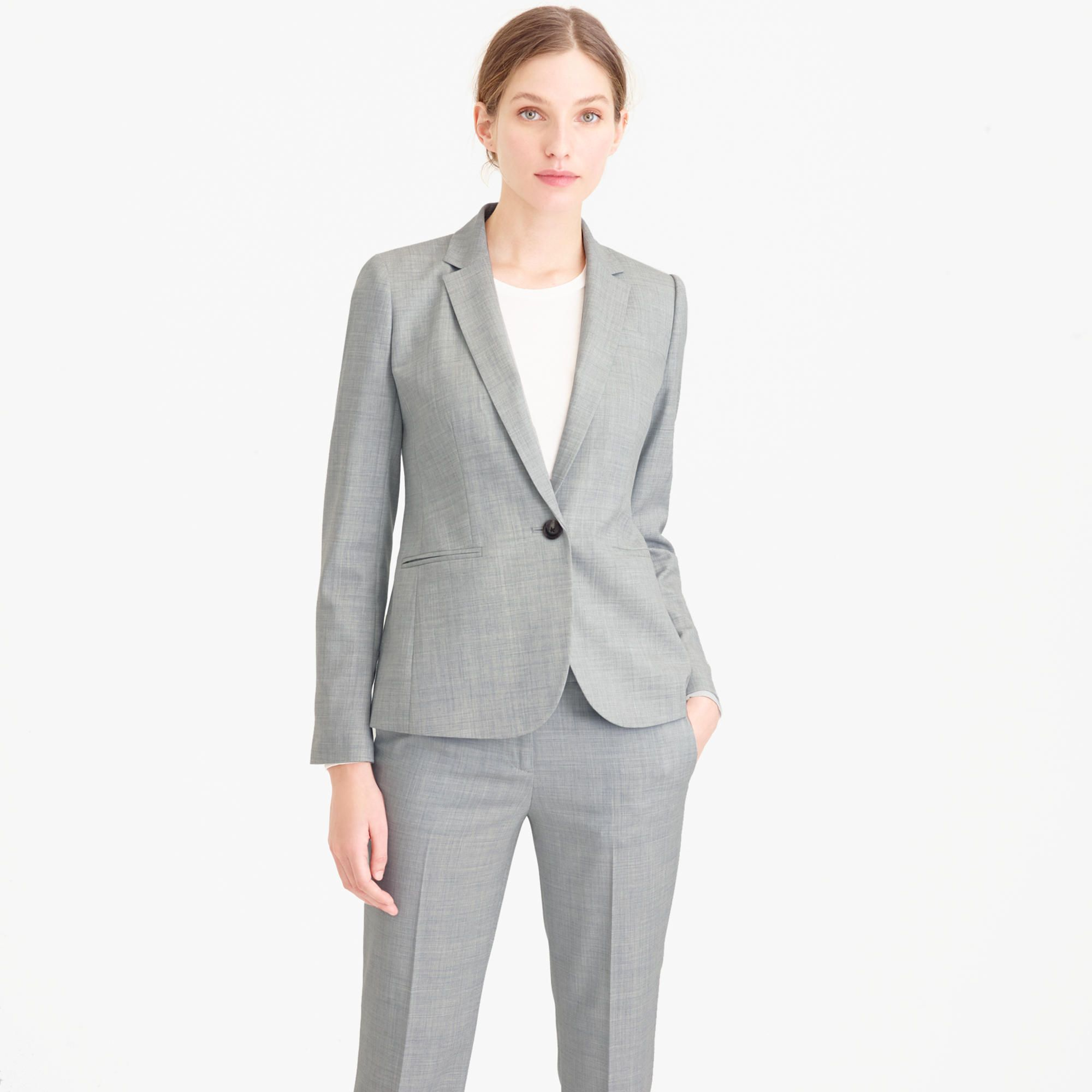 J Crew Light Gray Suit Things To Wear Pinterest Suits Suits