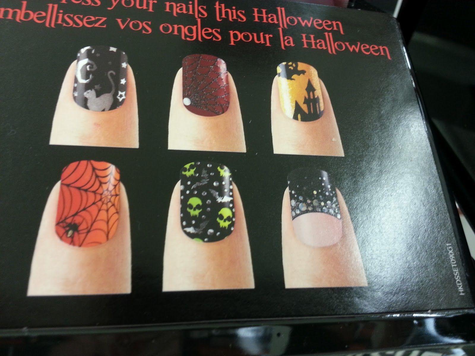 New Halloween Nail Polish Strips from Kiss | Mani Pedi | Pinterest ...