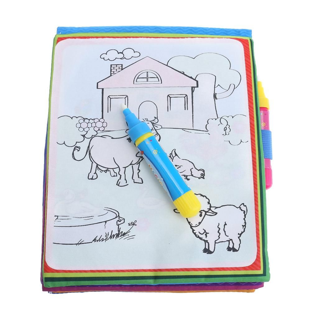 Kids Magic Water Drawing Book Animals Painting Water Coloring Educational Toy The Magic Water Drawing Book Drawing For Kids Animal Coloring Books Drawing Toys