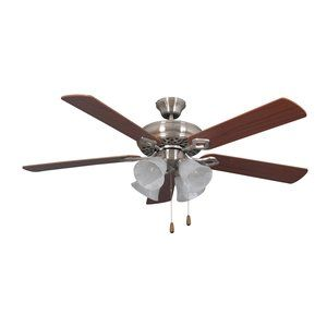 better homes and gardens 52 ceiling fan with light kit satin nickel 17789 wiring a hunter