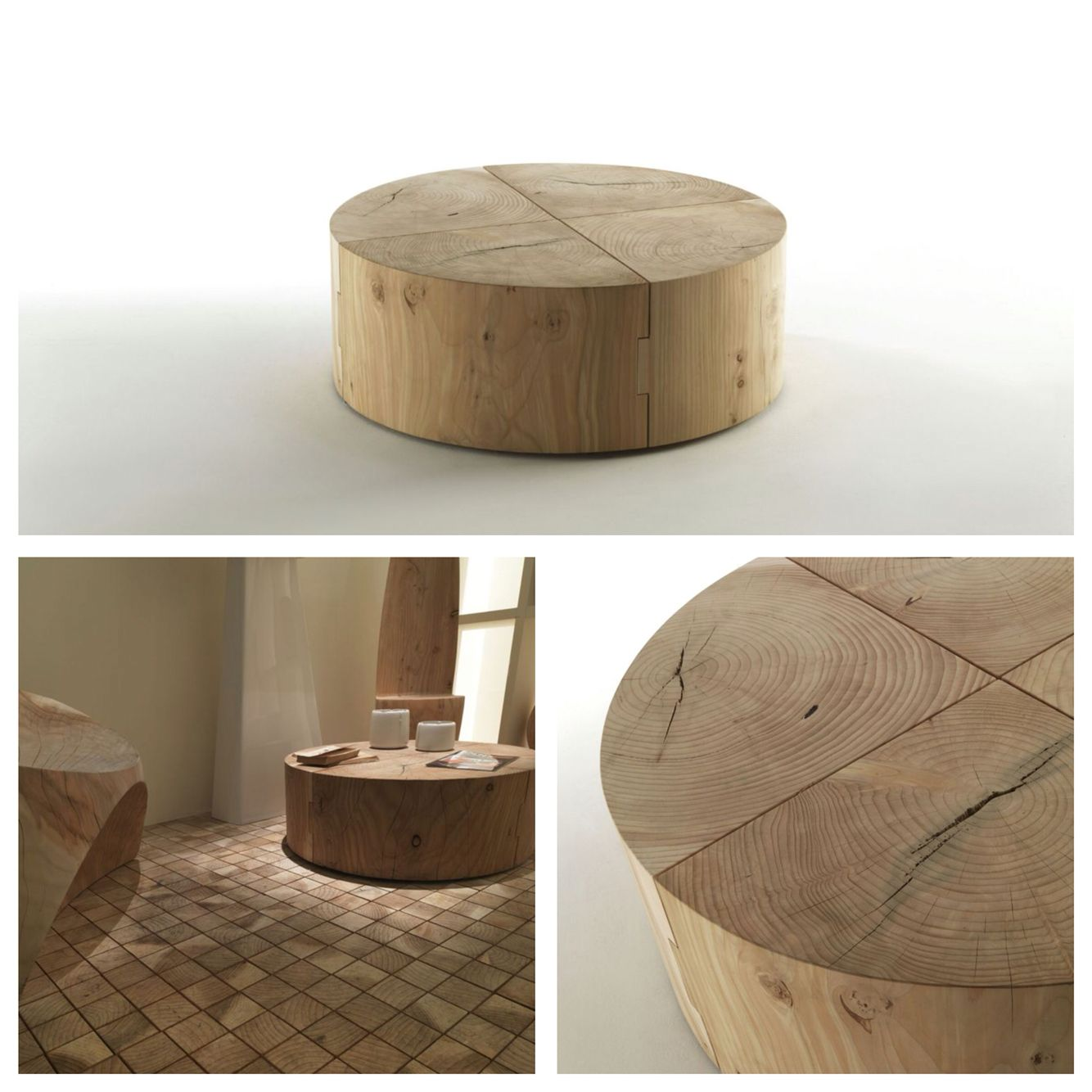 Riva 1920 Made In Italy In Solid Wood Eco Block Coffee Table Project By C R S Riva Bolacha De Madeira De Madeira Madeira