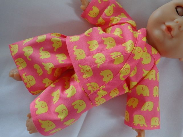 Dolls Clothes Elephant Pyjamas to fit 30cm (12inch) baby dolls ELC Cupcake  £4.99