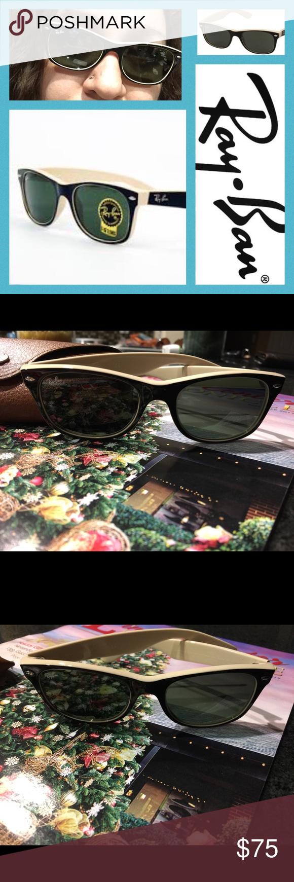 ebeaaff92f2f2 NWOT Ray-Ban Wayfarer Mod Two-Tone Sunglasses Retro classic with an Indie  update