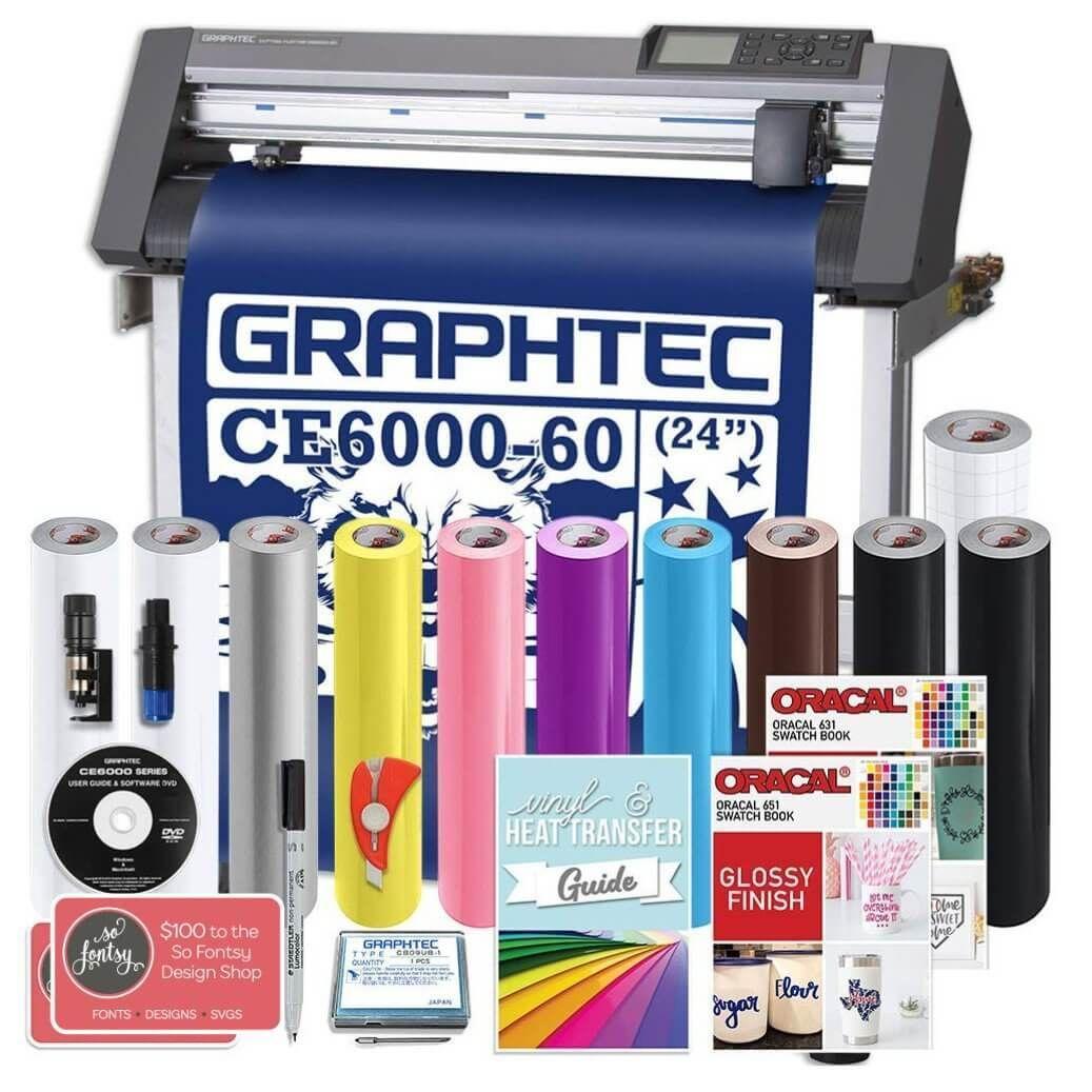 Graphtec Plus Ce6000 60 24 Inch Vinyl Cutter With Bonus Software 2 Year Warranty Swing Design Vinyl Cutter Vinyl Oracal Vinyl