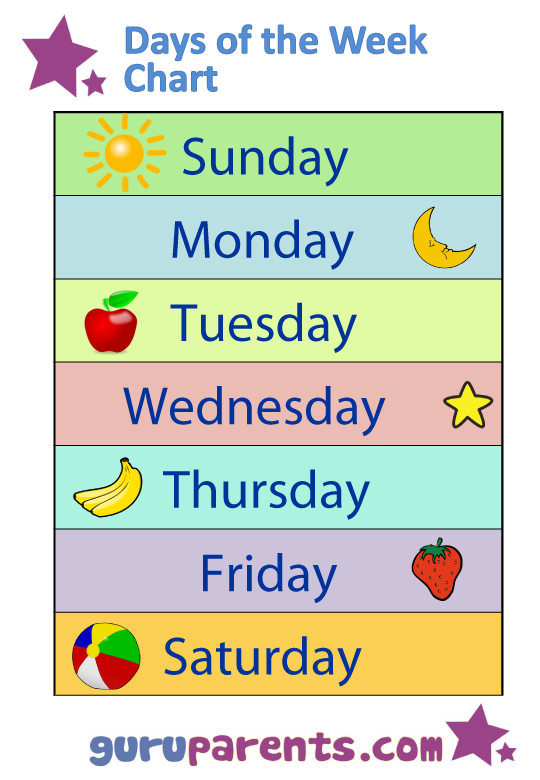 FREE Days of the Week Worksheets – Days of the Week Kindergarten Worksheets