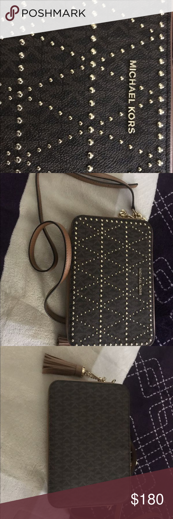 Original MK Camera Purse Brand new ... brown with gold accents ... never used it Michael Kors Bags Mini Bags #camerapurse