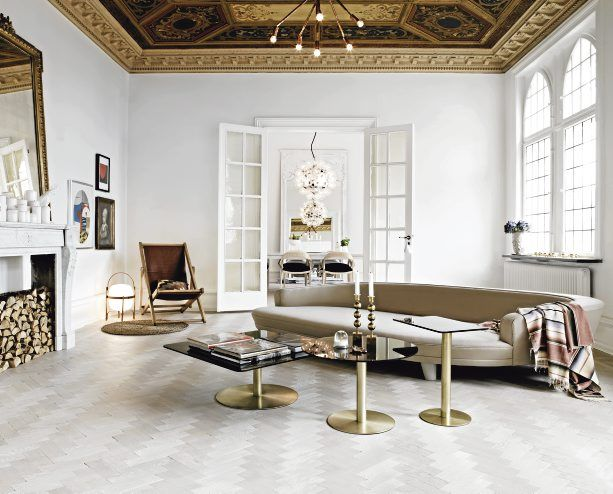 Gold and White Living Room A Comfortable Habitat I Pinterest - tour a metaux fait maison