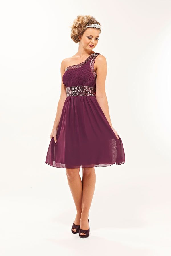 Plum Bridesmaid Dresses With Crystals Eva Short Dress Era Boutique