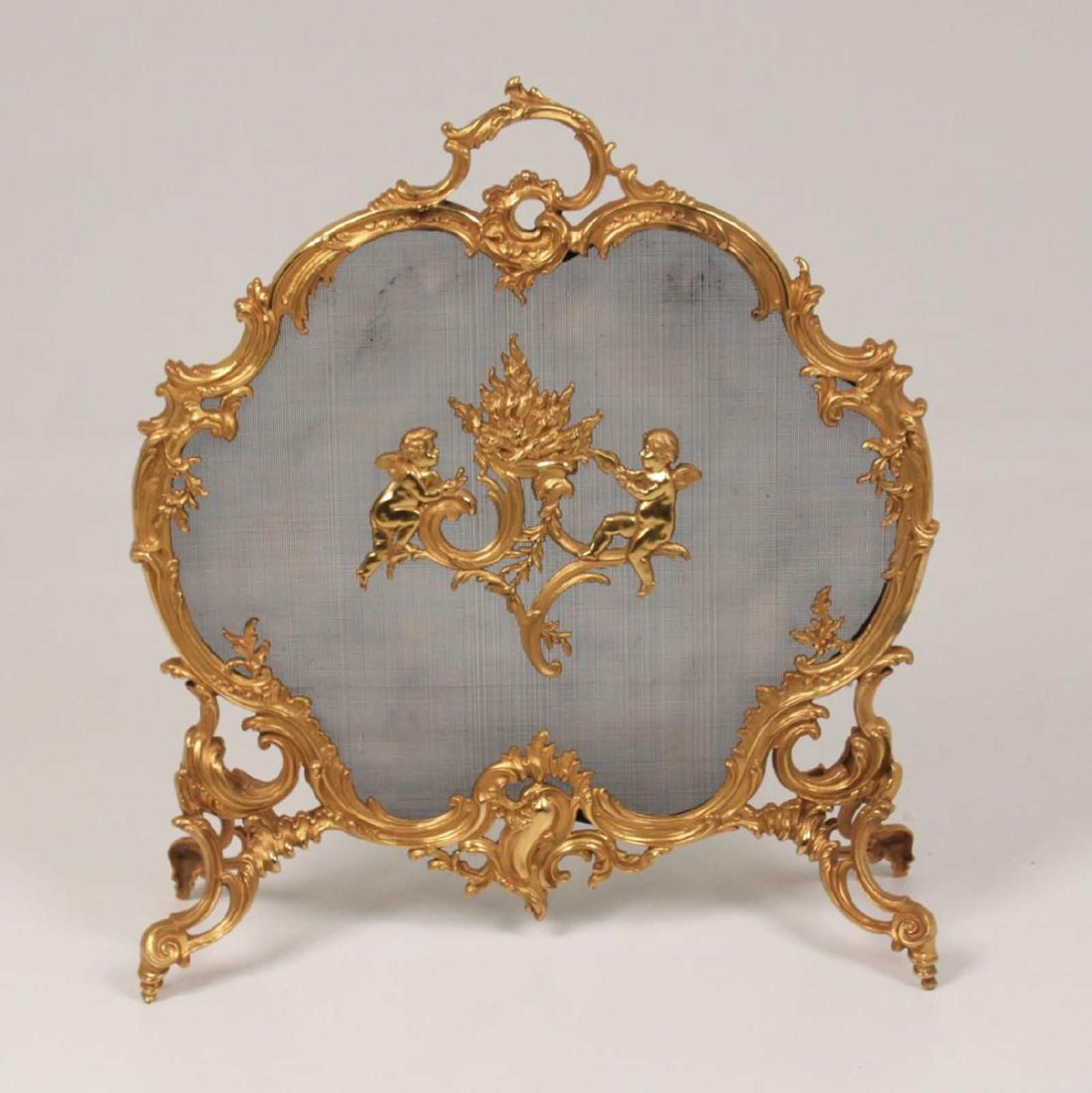 french louis xv dore bronze fire screen antiques pinterest