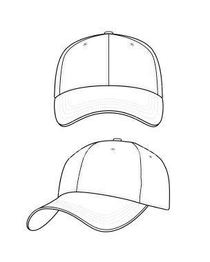 Baseball Hat Template Baseball Hat Template Hat Designs Pictures Desenhos De Roupas Desenhos De Moda Molde De Camiseta Masculina