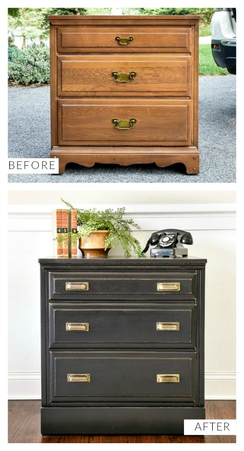 Dated Goodwill Dresser Turned Vintage Inspired Chest