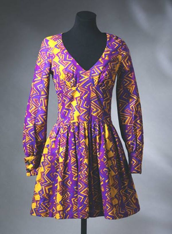 The interior of the shop was decorated beautifully with Victorian furniture and antiques. Biba Mini dress, Barbara Hulanicki, 1967