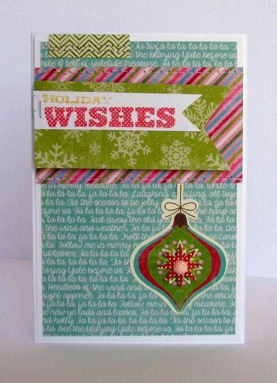 Nicole Nowosad- WCMD Sketch 3/Holiday Wishes Card via Jillibean Soup Blog