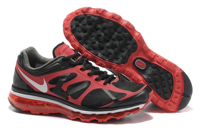premium selection 75774 521f3 Nike Air Max 2012 Men Black Red Shoes