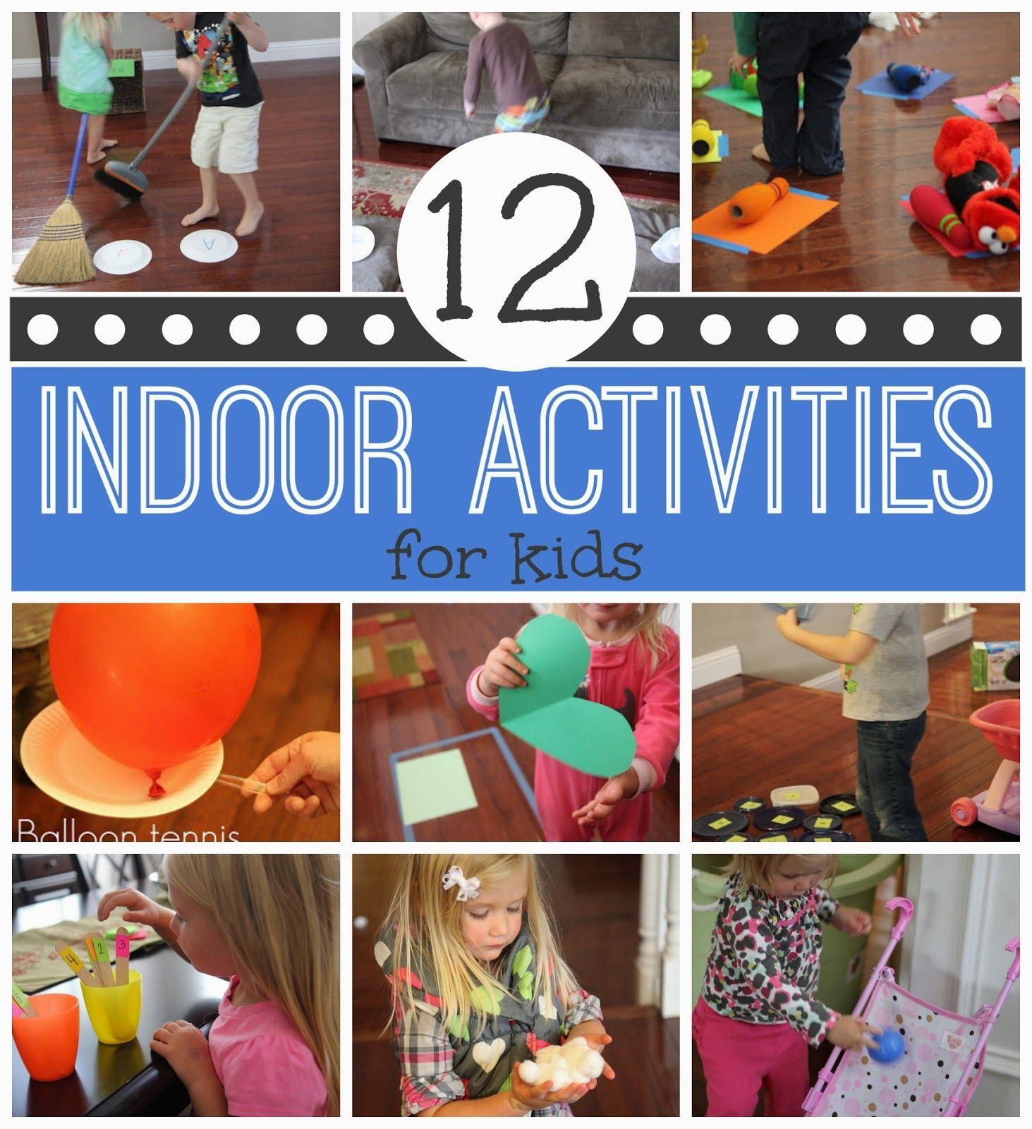 12 Active Indoor Activities for Kids For kids, Toddlers