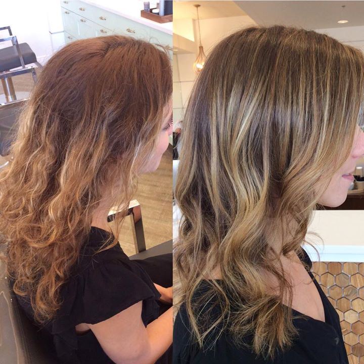 Here's an example of a before and after done on a brassy ...