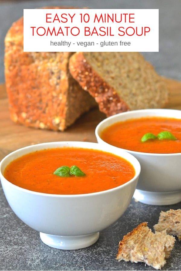Easy Tomato Basil Soup Recipe Tomato Soup Recipes Tomato