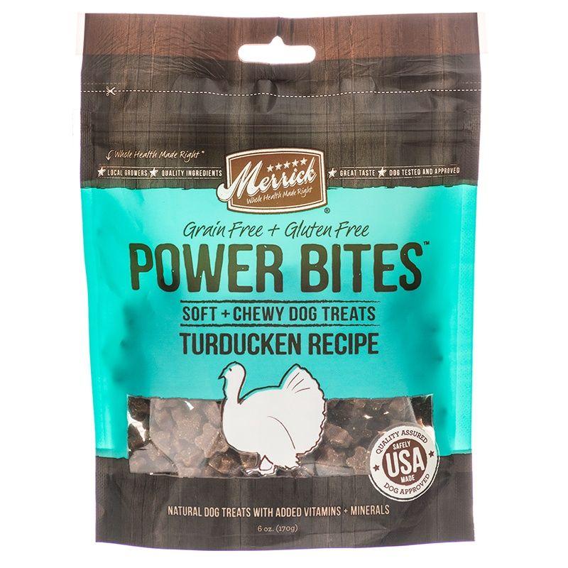 Merrick Power Bites Dog Treats Turducken Recipe Dog Treats