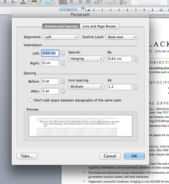 Margins Resume Fonts Resume Format Resume
