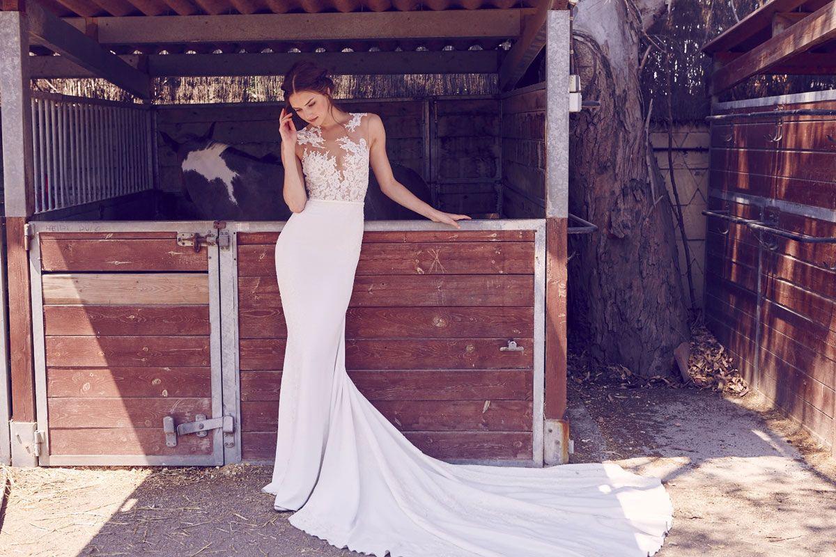 como llevar un vestido de novia con transparencias de la colección ...