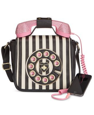 Betsey Johnson Phone Crossbody With Rhinestones Macys