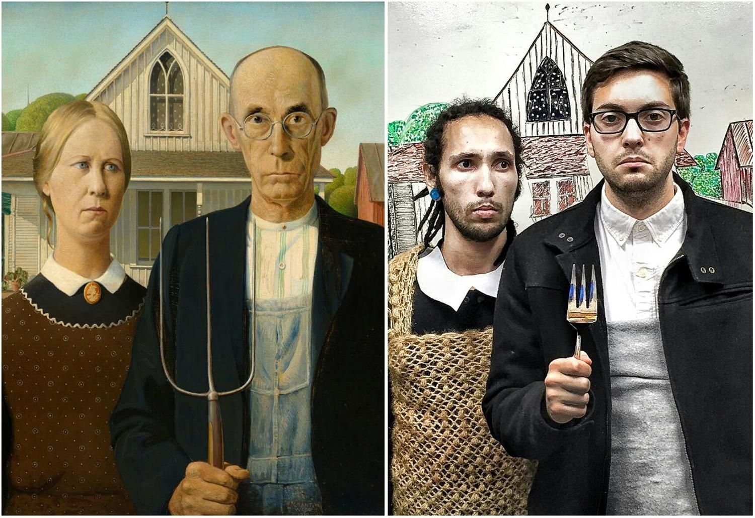 Pin by Colección Gráfica DPTO DIBUJO on Photography ideas | American  gothic, Famous artwork, Famous art