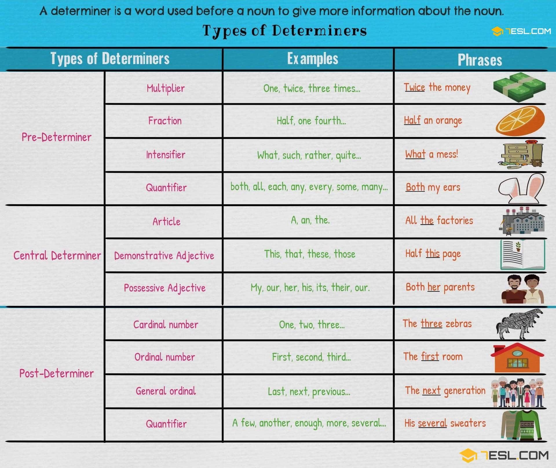 Determiners – Types of Determiners | Business English | Pinterest