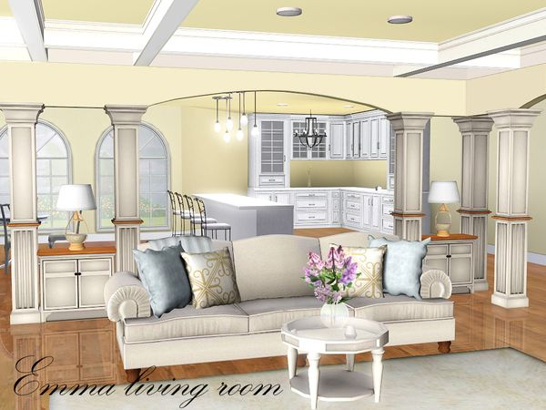 Emma living room by spacesims sims 3 downloads cc for Muebles sims 3
