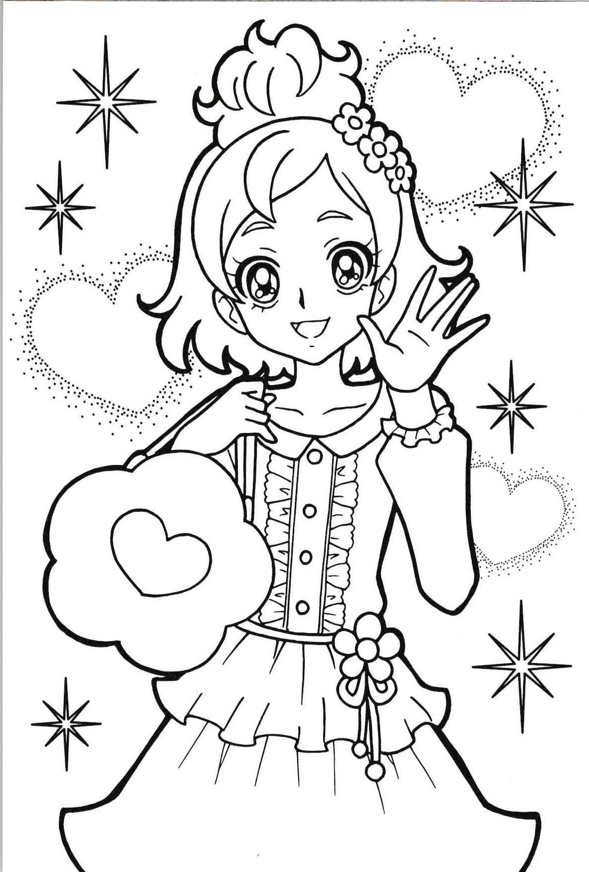 princess precure | haruka | Anime coloring pages! | Cool ...