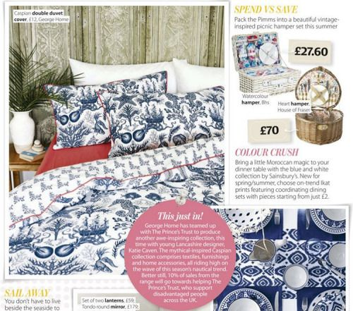 Eeep! The bedding from my @georgeatasda Caspian collection is featured in one of my favourite magazines, HomeStyle this month! This magazine always gives me so much inspiration so it's exciting to see my designs featured in it! #homeware #collection...
