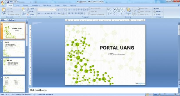 10 Template Ppt Gratis Yang Simple Abstrak Organisasi