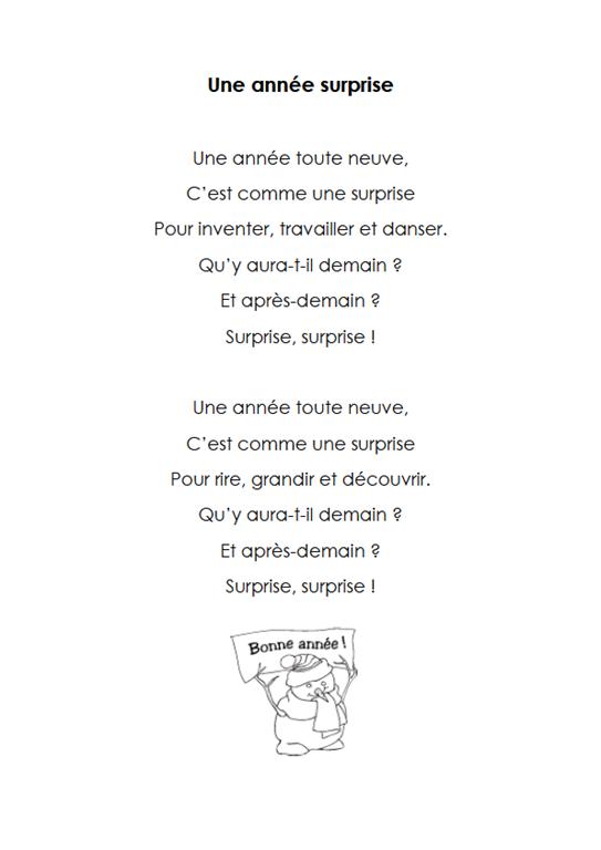 Sehr 1comptine7une-année-surprise | poèmes et citations | Pinterest  BK85