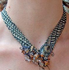 4 strand kumihimo with beads - Google Search | art class