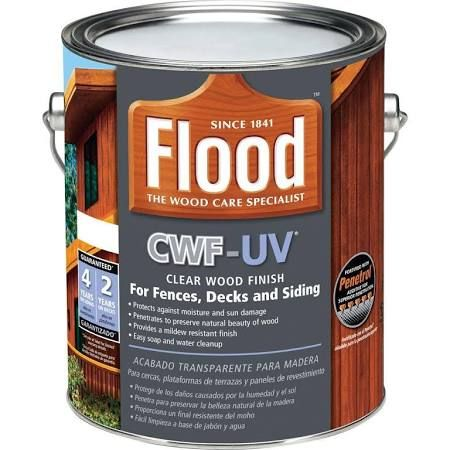 Exterior Stain Flood Finish Cwf Uv 1 Gal Clear Wood Finish Fld 422 01 Wood Finish Exterior Stain Exterior Wood