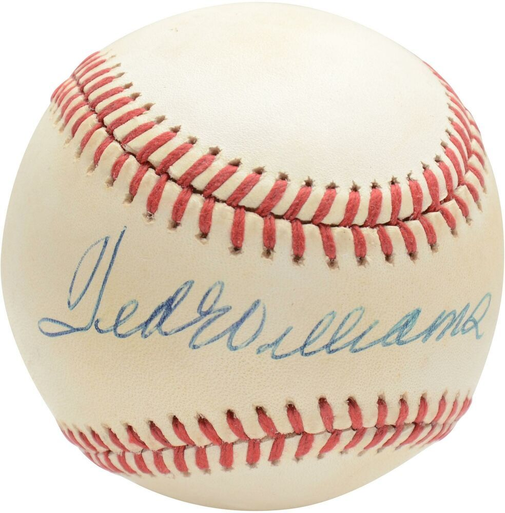 Ted Williams Boston Red Sox Autographed Vintage Baseball Psa V04976 Sportsmemorabilia Autograph Baseball Ted Williams Vintage Baseball Boston Red Sox