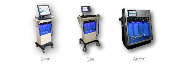 The different HydraFacial MD® machines. The Tower, Core ...