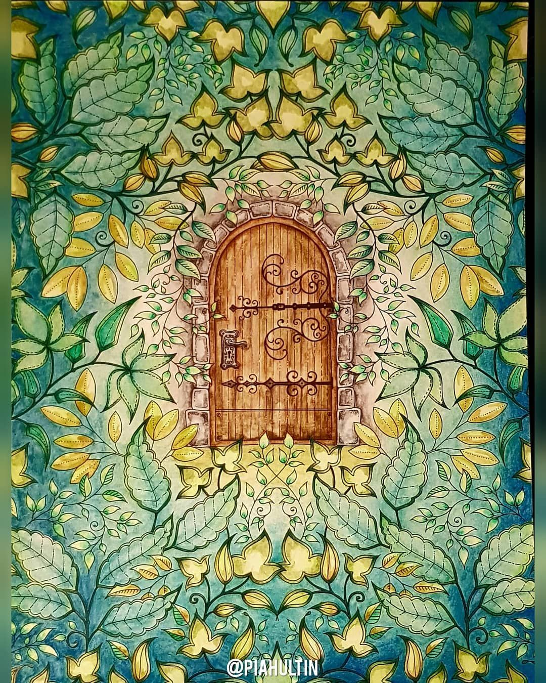 Pia Hultin On Instagram Hemliga Tradgarden Secret Garden Cover By Johanna B Johanna Basford Secret Garden Basford Secret Garden Johanna Basford Coloring Book