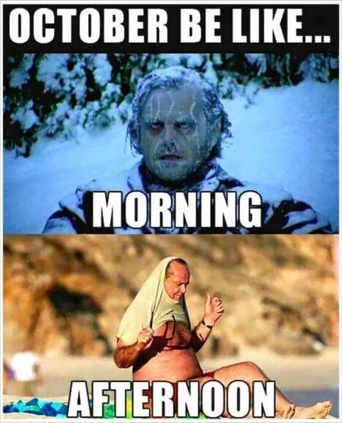 b1dad6a4f0170528b01d54900bfdf264 october be like morning freezing afternoon heatwave