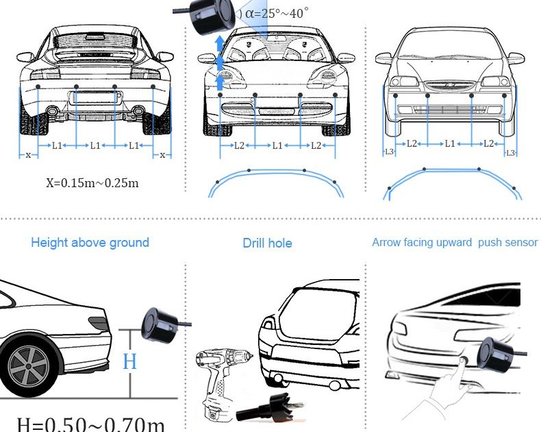 Automobiles And Motorcycles Jansite Universal Car Led Parking Sensor With 4 Sensors Car Reverse Assistance Backup Radar Monitor Radar Detector Car Led Detector