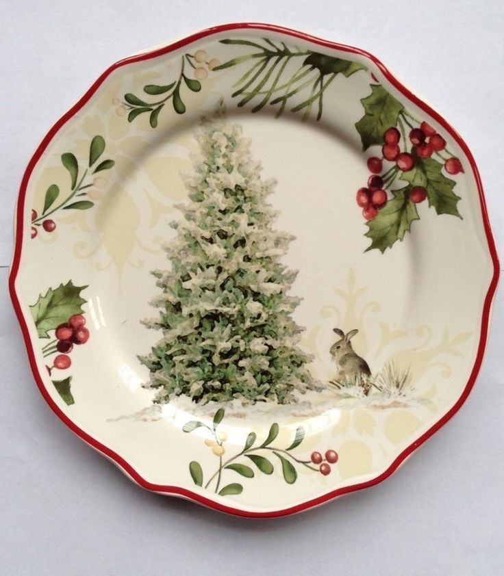 Better Homes u0026 Gardens Christmas Heritage Christmas Tree Salad Plate & Better Homes u0026 Gardens Christmas Heritage Christmas Tree Salad Plate ...