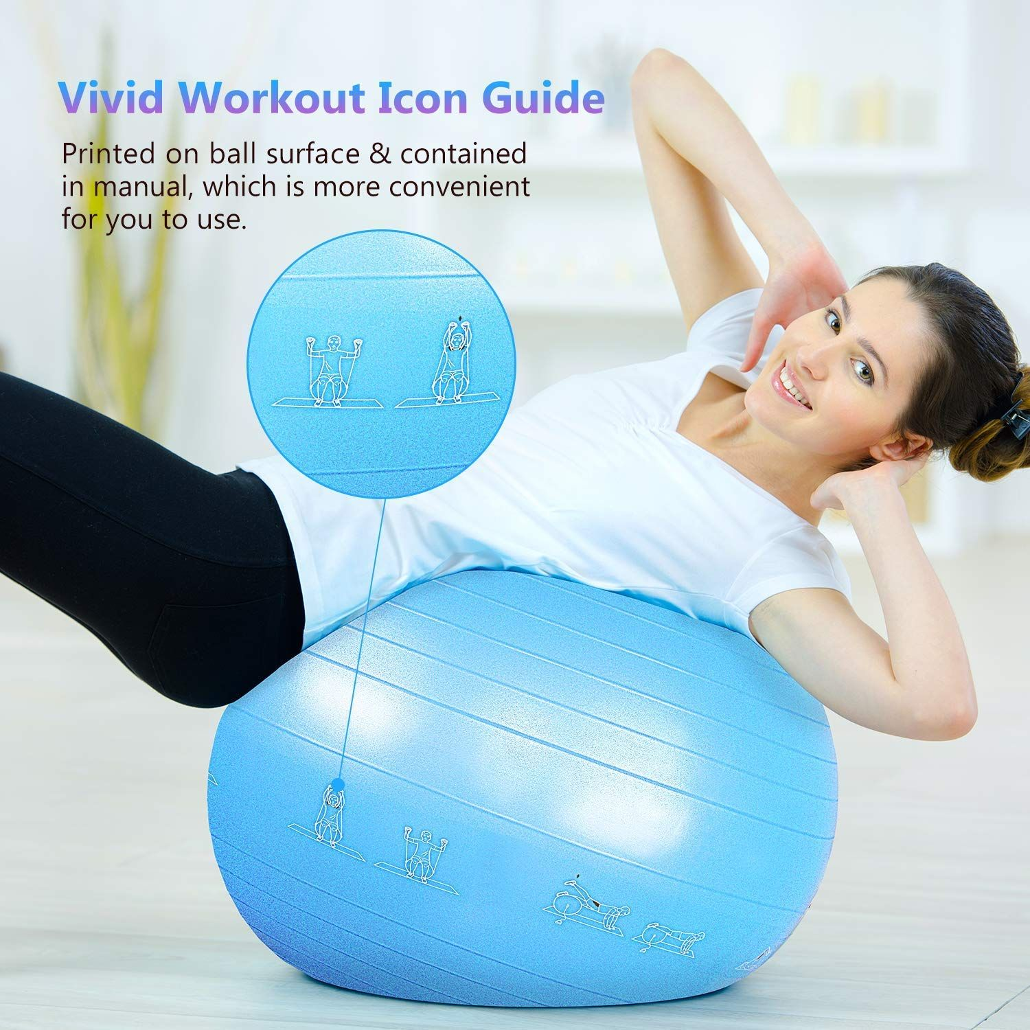 PACEARTH Exercise Ball Yoga Balance Fitness Ball Chair