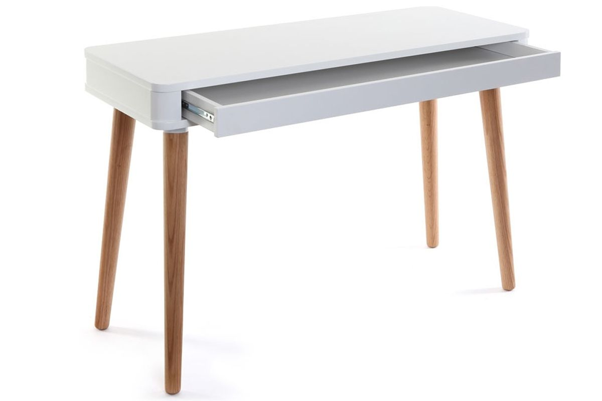 Bureau design scandinave blanc et bois totem zoom u ac naos