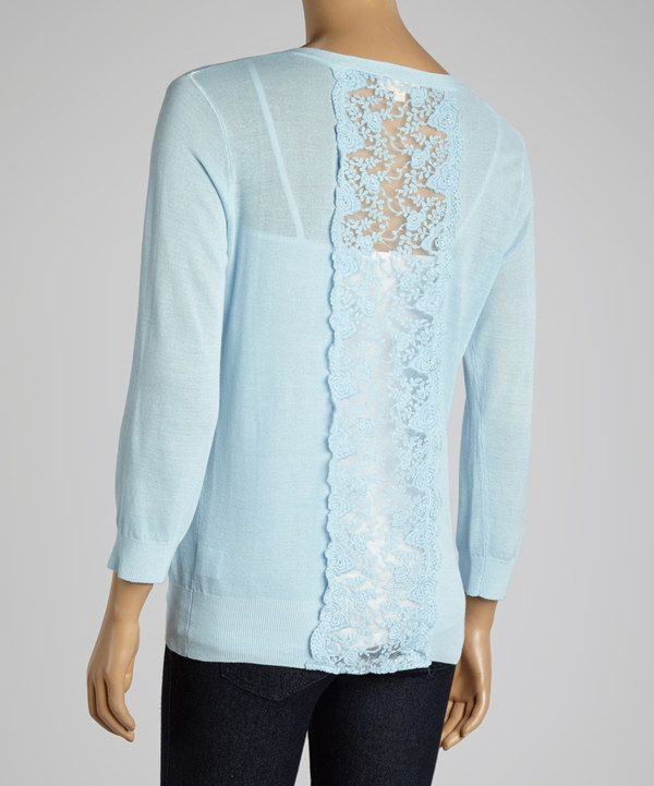Dani Collection Light Blue Lace Cardigan | Lace, Lace cardigan and ...