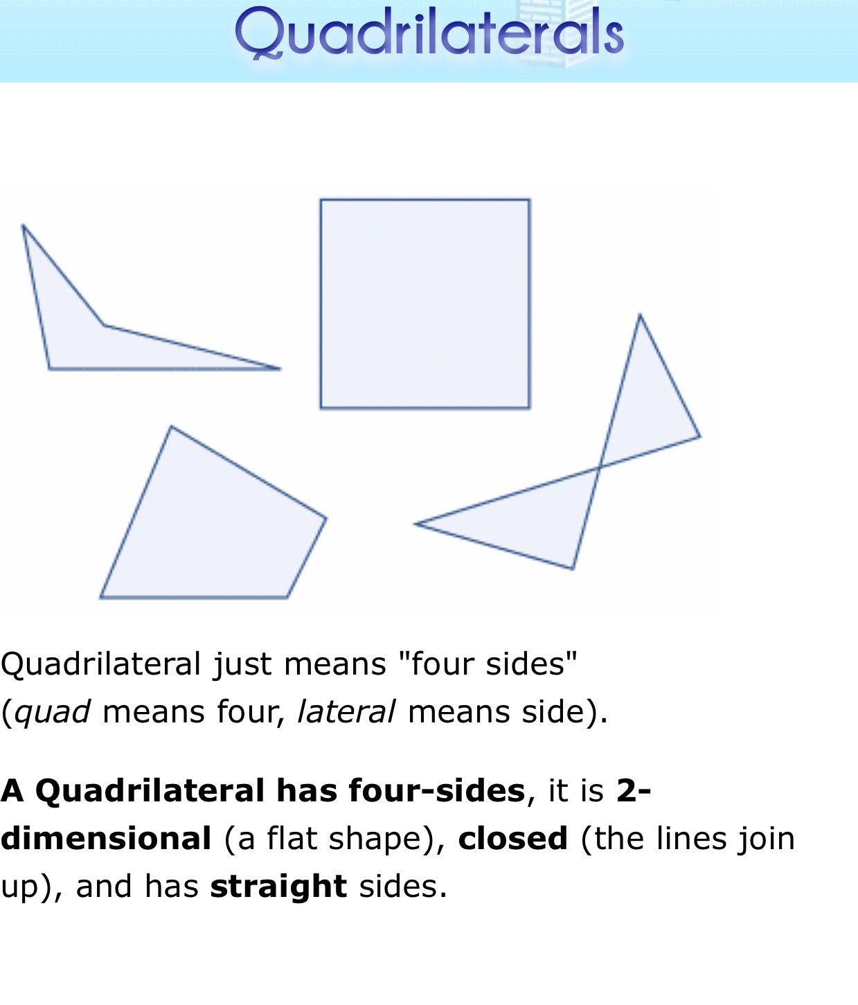Updated Learning Is A Quadrilateral A Rectangle